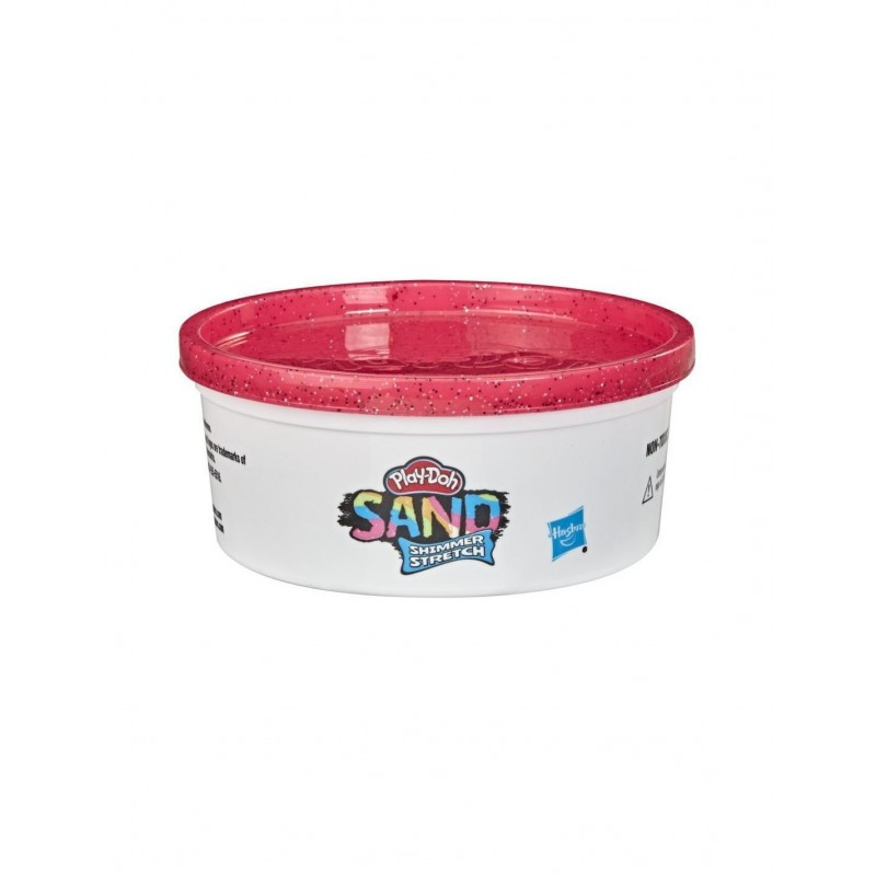 Hasbro Play-Doh Sand Shimmer Stretch Single Can Of Sparkly Bright Red Compound Φούξια