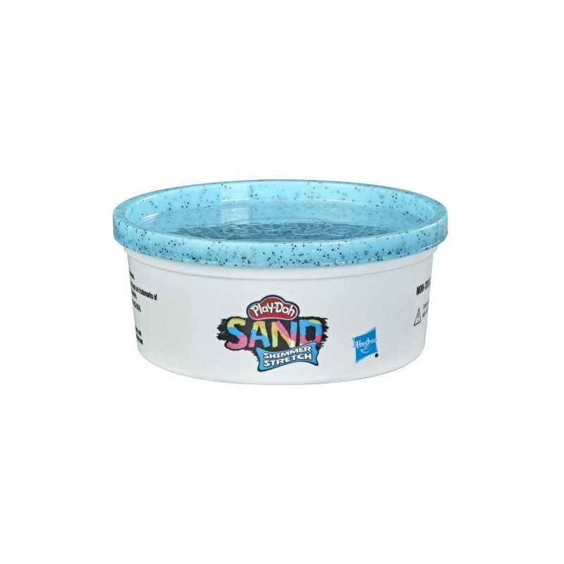 Hasbro Play-Doh Sand Shimmer Stretch Single Can Of Sparkly Cyan Blue Compound Σιέλ