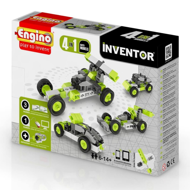 Engino - Inventor 4 In 1 Cars Model