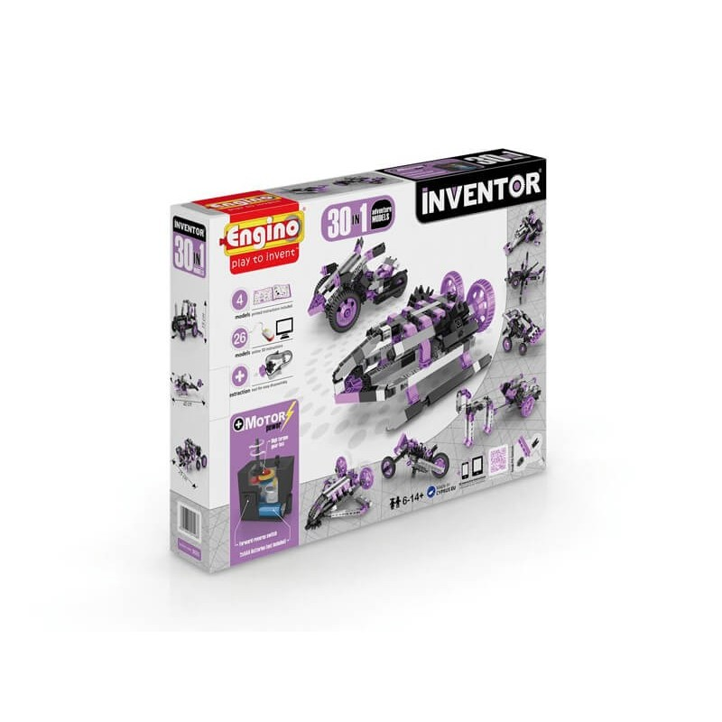 Engino - Inventor 30 In 1 Advendure Models With Electrical Motor