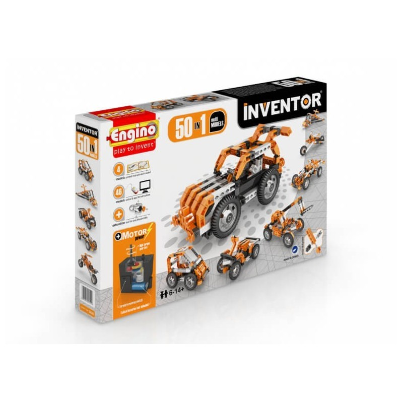 Engino - Inventor 50 In 1 Multi Models With Electrical Motor