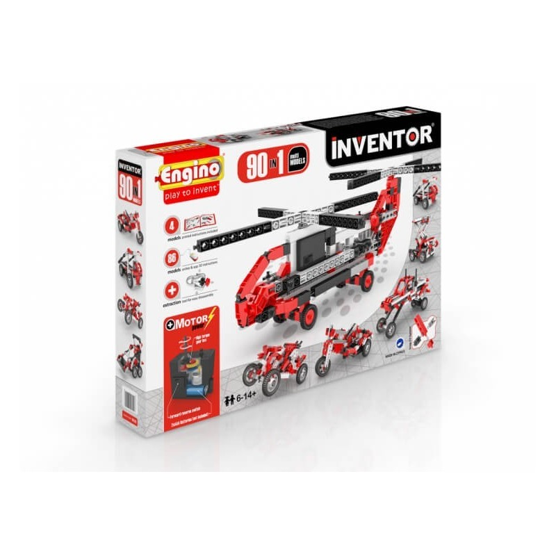 Engino - Inventor 90 In 1 Multi Models With Electrical Motor