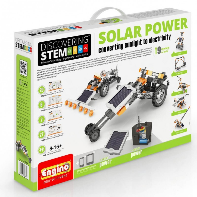 Engino - Discovering STEM Solar Power Converting Sunlight To Electricity