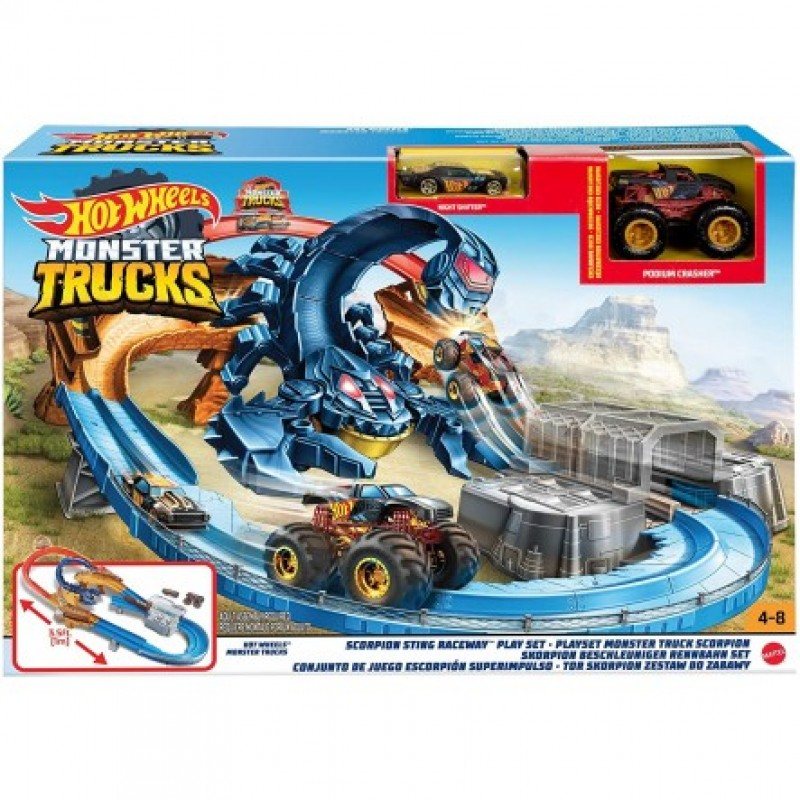 Mattel Hot Wheels Monster Trucks Πίστα Σκορπιός